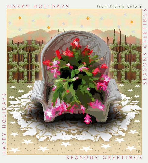 Xmas-Cactus © Lisa Rivas