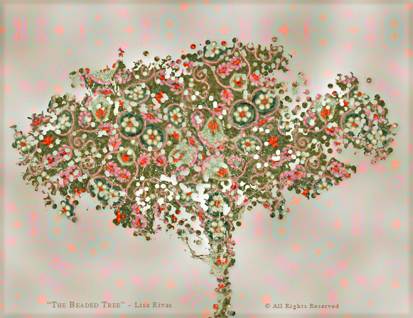 Beaded Tree by Lisa Rivas