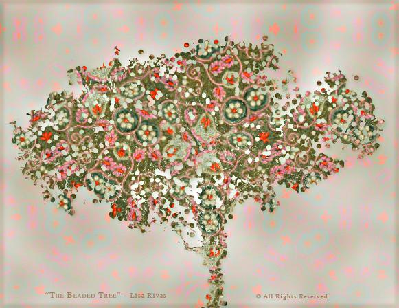 Beaded Tree by Lisa Rivas