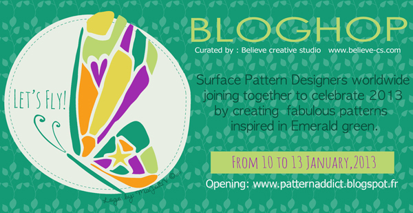 Let's Fly a Surface Design BlogHop