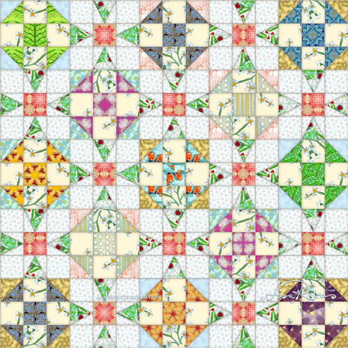 Quilt sample © Lisa Rivas
