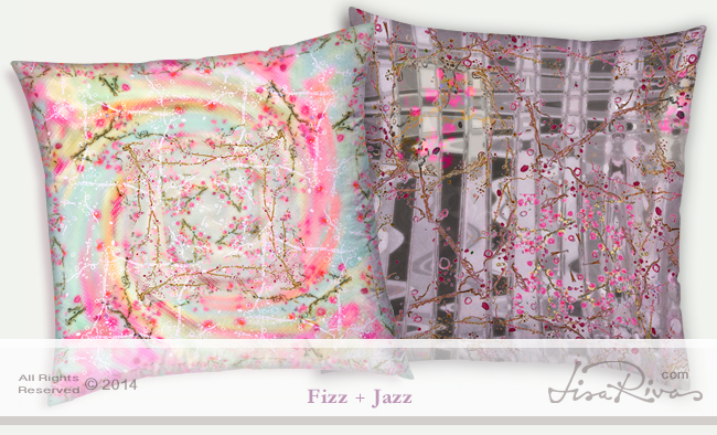 Cherri Fizz + Jazz pillows by ©LisaRivas