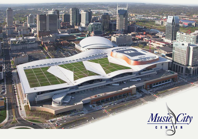 Music City Center a birdseye view, Nashville TN