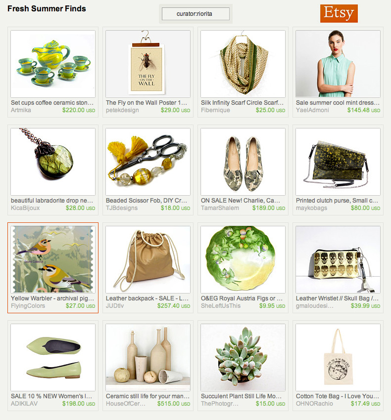 Fresh Summer Finds treasury by riorita