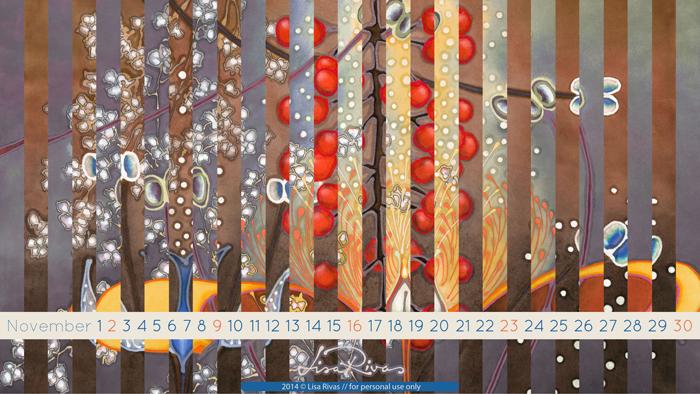 November 2014 Calendar © Lisa Rivas