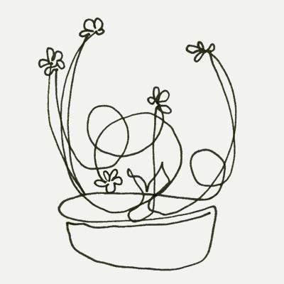 Ikebana (one-liner sketch) by Lisa Rivas