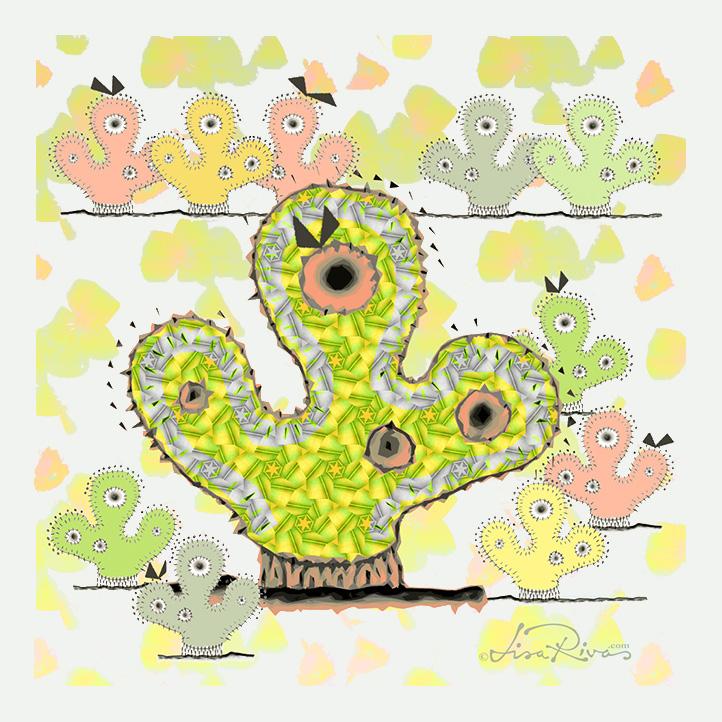Cactus Chicks by © Lisa Rivas