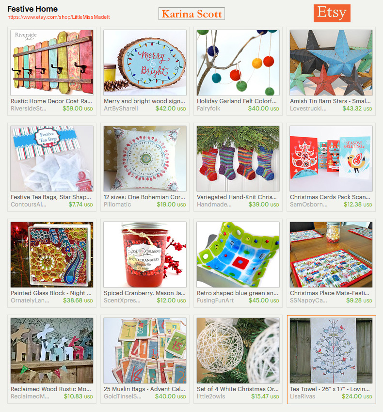 Festive Home an Etsy Treasury