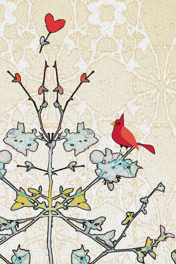 Loving-Branches a tea towel design (close-up) by ©LisaRivas
