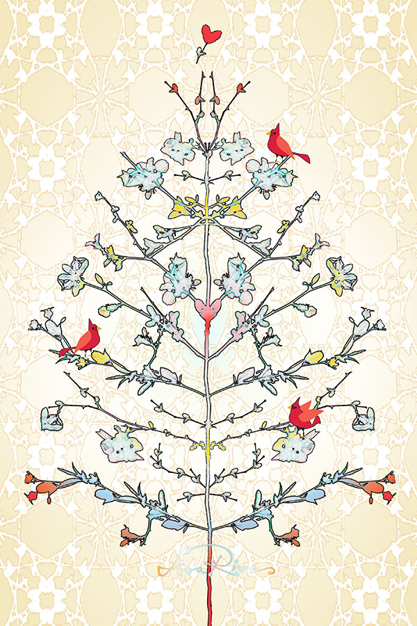 Loving-Branches a tea towel design