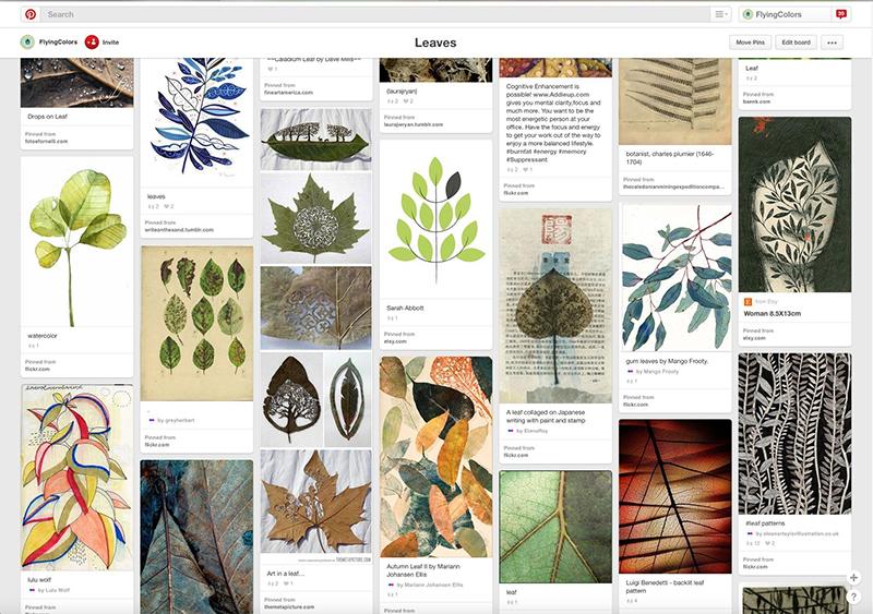 Leaf-Moodboard