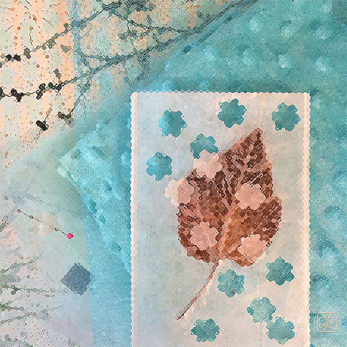 Angel Cloth - Collage © Lisa Rivas