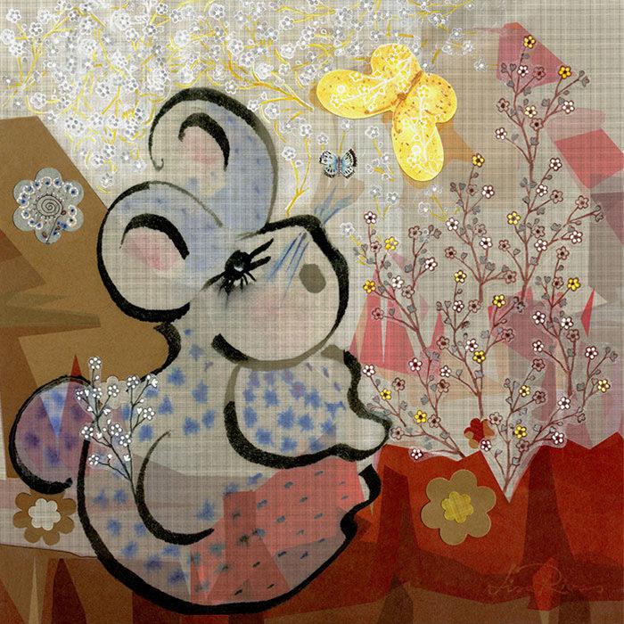 Peek A Bunny | Collage © Lisa Rivas